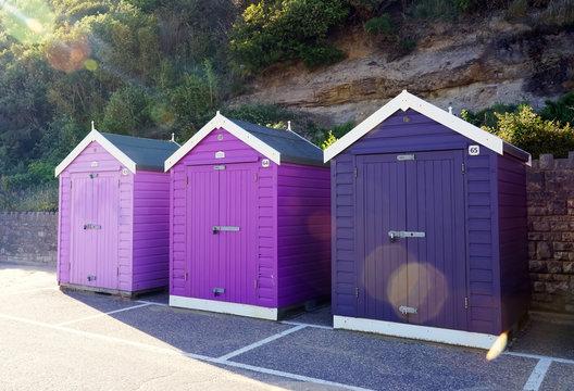 Hütten am Strand