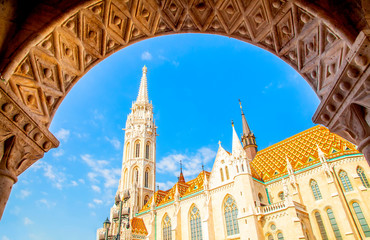 Wall Mural - View of Matthias Church in Buda castle, Budapest, Hungary