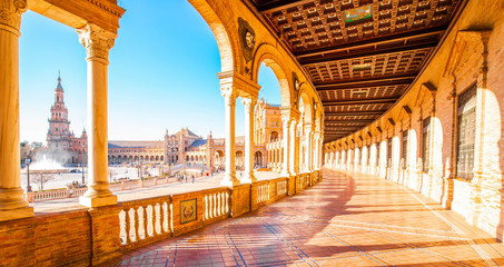 Wall Mural - Plaza de Espana (Spanish Square) in Seville, Spain