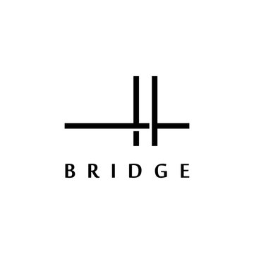 Simple bridge logo design Inspiration.Creative bridge symbol illustration