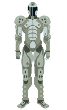 armored robot cyborg science fiction spacesuit character