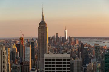 Photo sur Aluminium New York General view of Manhattan, New York city