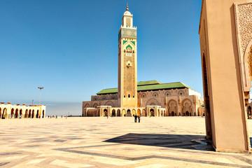 Acrylic Prints Morocco Casablanca Mosque Hassan-II