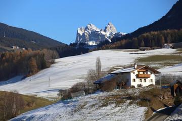 Alpine village in Kastelruth, Italy.