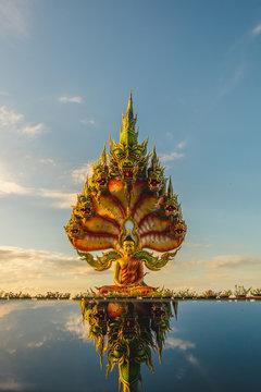 golden dragon statue in thailand,Tham Pha Daen Temple beautiful travel in sakon nakhon province,thailand