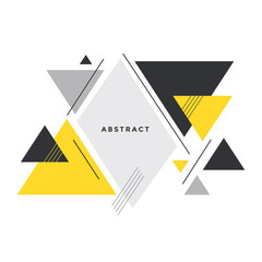 abstract triangle background in memphis style