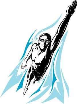 Swimmer Front Crawl
