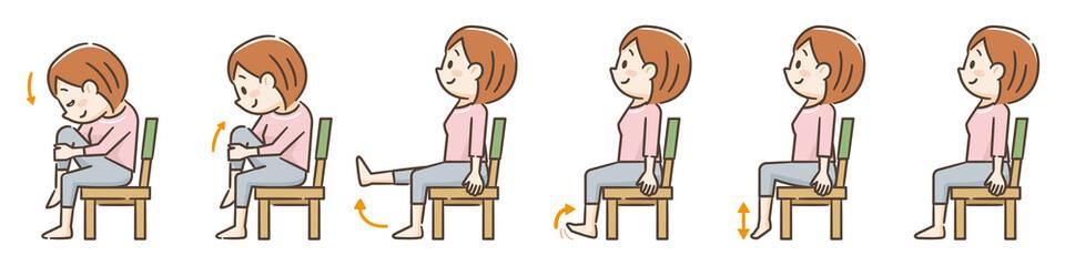 椅子を使用した運動