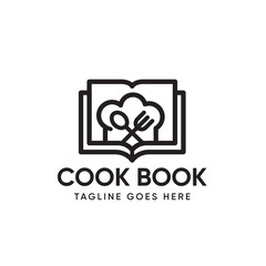 Recipe Book Logo design Template-vector