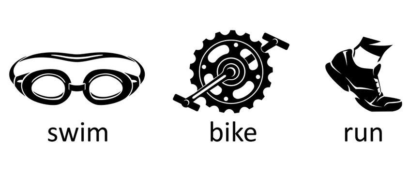 Triathlon Sport Icons