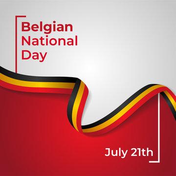 Happy Belgian National Day Vector Design Template Illustration