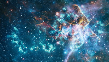 Galaxy creative background. Starfield stardust and nebula space. background with nebula, stardust and bright shining stars. Elements of this image furnished by NASA. Wall mural