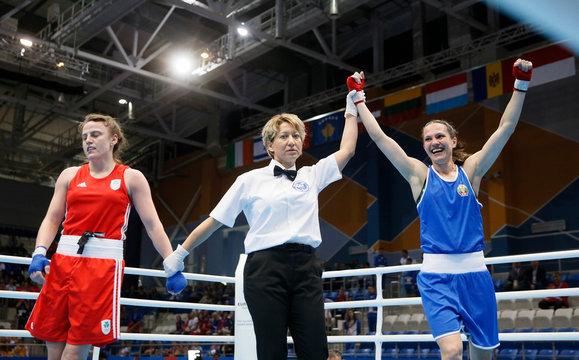 2019 European Games - Boxing - Women's Feather -57kg