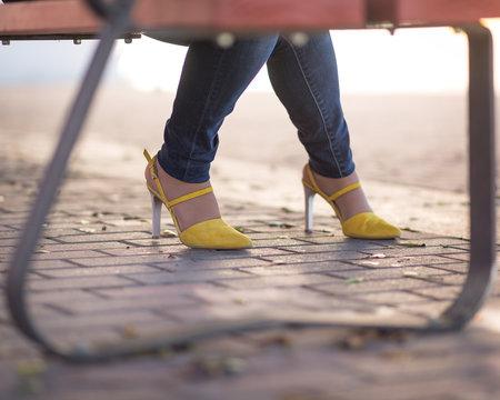 Pretty yellow shoes