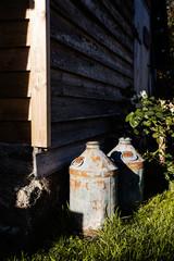 vintage milk jugs