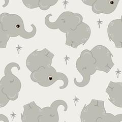 Modèle sans couture avec des éléphants mignons