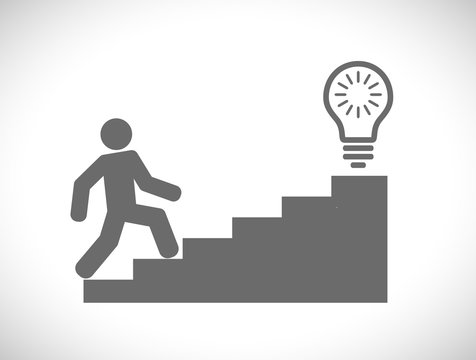 person climbing on stairs