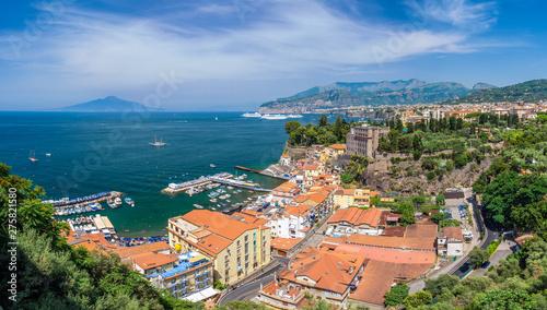 Wall mural Landscape with Sorrento, amalfi coast, Italy