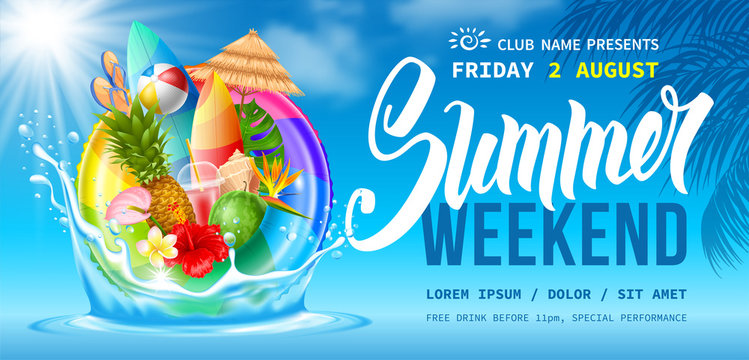 Summer Weekend Party Flyer Template