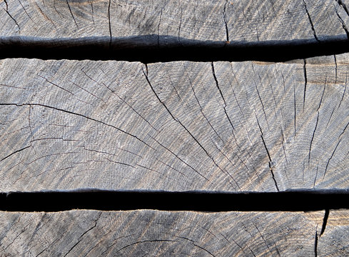 Timber texture pattern and grain, two horizontal slots.