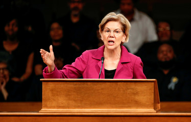 Democratic 2020 U.S. presidential candidate Warren speaks in Chicago