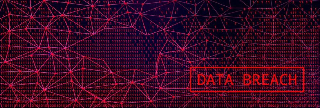 Digital Web on Dark BG. Data Breach Concept