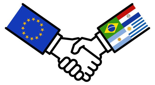 EU MERCOSUR business deal, free trade agreement, handshake