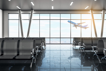 Modern airport lounge