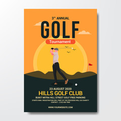 golf tournament flyer template background vector