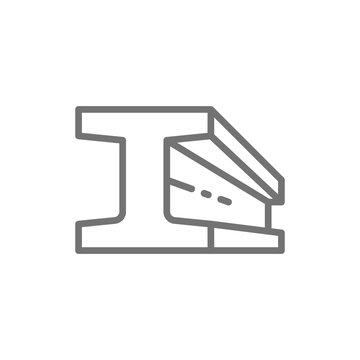 Steel beam product, metallurgy product line icon.