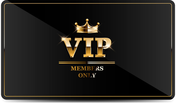 Premium VIP card with gold elements and crown