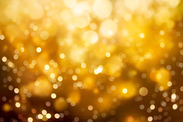 Wall Mural - Abstract blurred gold color bokeh background