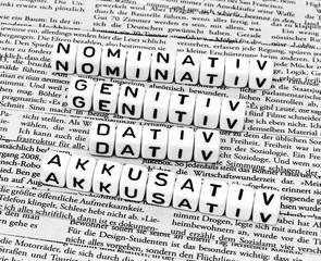 Nominativ Genitiv Dativ Akkusativ Deutsche Grammatik