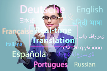Concept of online translation from foreign language