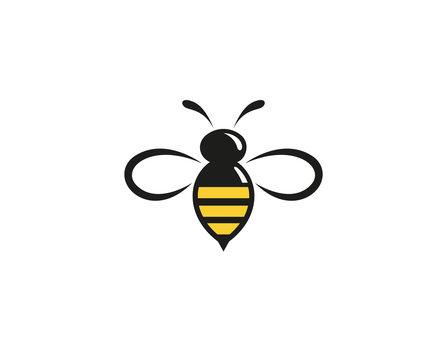 Creative Abstract Bumblebee Logo Design Vector Symbol Illustration