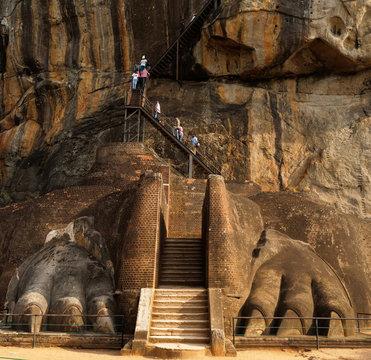 Sigiriya ancient rock in Sri Lanka