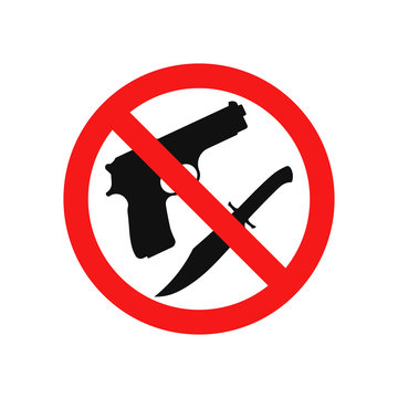 No weapon icon. Vector. Isolated.