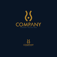 Creative Tulip and SS Letter A Logo Template