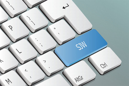 SJW written on the keyboard button