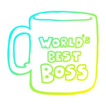 cold gradient line drawing worlds best boss mug