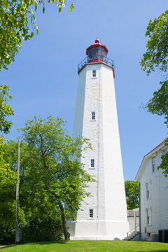 Sandy Hook Lighthouse. Monmouth County of New Jersey, USA