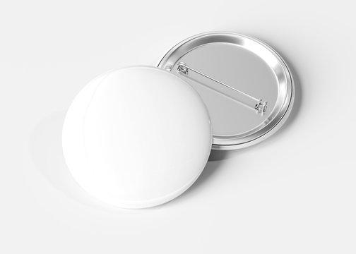 Badge on white background 3D rendering