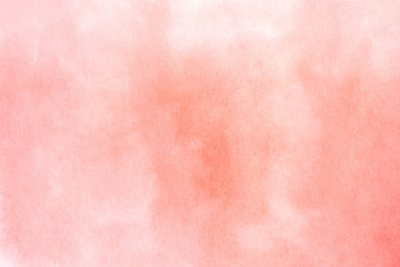 Abstract hand drawn watercolor living coral horizontal background