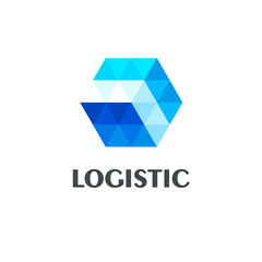 Vector logo design template for logistics and delivery company.