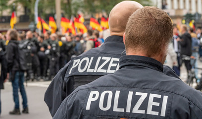 Panorama Polizeieinsatz in Deutschland bei einer Demo