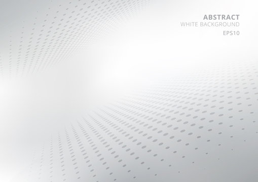 Elegant abstract white and gray gradient perspective background with curved and halftone style. Modern design for report and project presentation template.