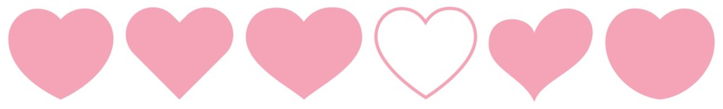 Heart Rose Pink   Love   Logo   Variations