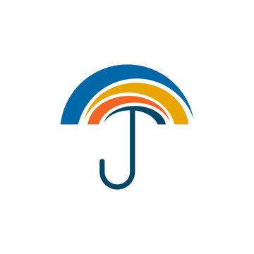 Umbrella icon logo design vector template
