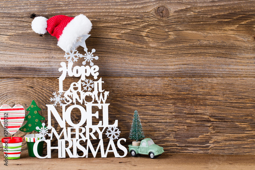 Christmas Tree Noel Wish Spruce Of The Letters Stock Photo And