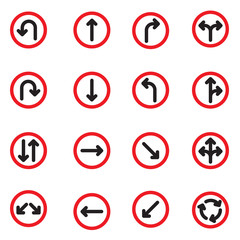 traffic sign vector set